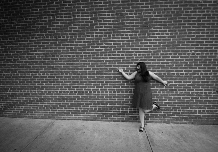 Brick wall - B&W 1