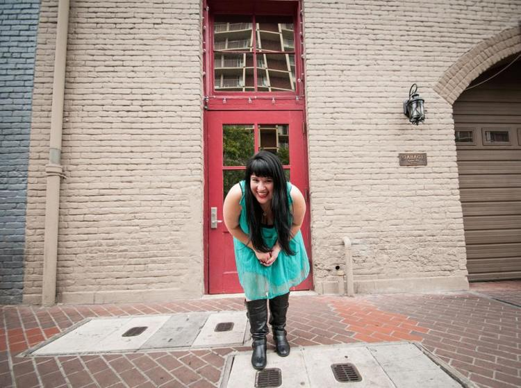 Red door - leaning into camera